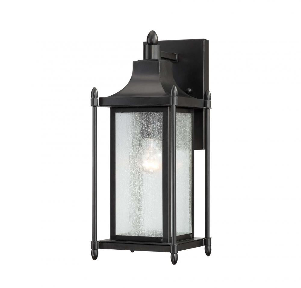 Black Transitional 1 Light Wall Lantern