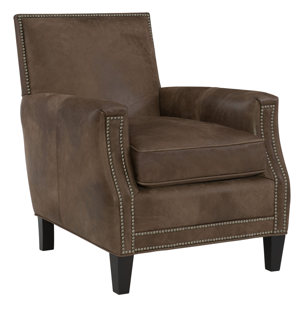 Leather Chair with Nailheads, Home Furnishings, Laura of Pembroke