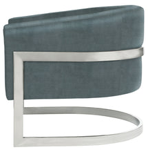 Metal Banded Accent Chair