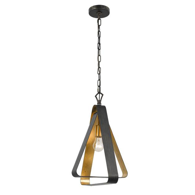 Bronze & Gold 1 Light Chandelier