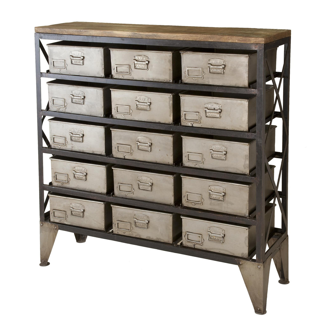 15 Drawer Industrial Unit, Home Furnishings, Laura of Pembroke