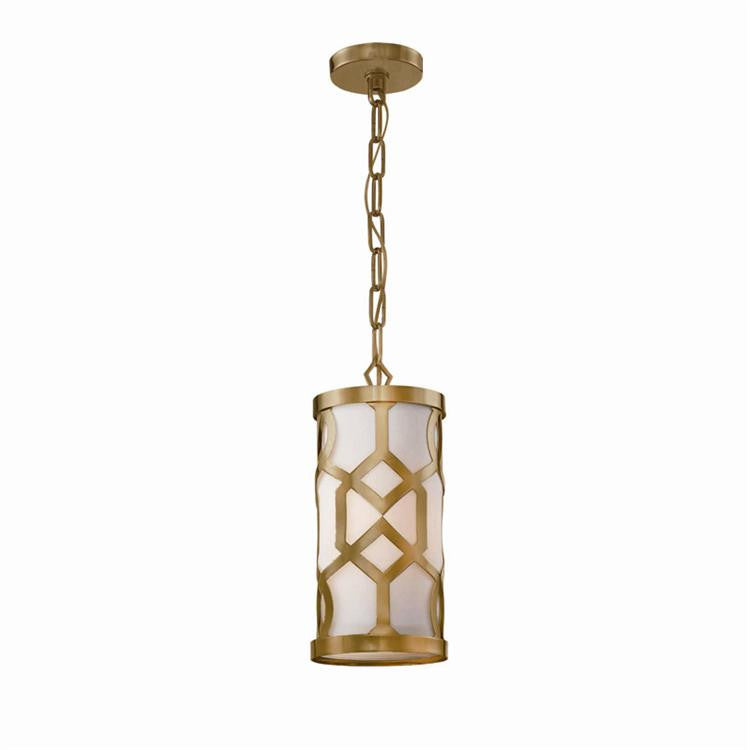 Geometric Aged Brass Pendant, Lighting, Laura of Pembroke