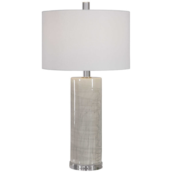 Beige Glaze Ceramic Table Lamp