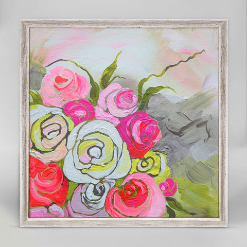 Spring Floral II Mini Framed Canvas 6x6