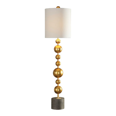 Gold Leaf Sphere Buffet Lamp, Home Accessories, Laura of Pembroke