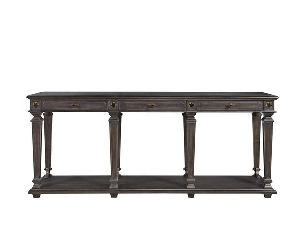 3 Drawer Dark Finish Console