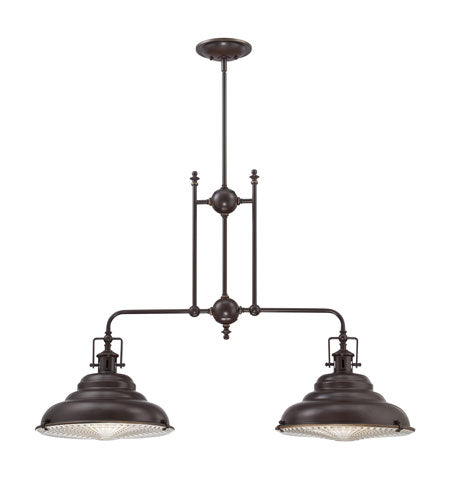 2 Light 40 inch Palladian Bronze Island Light Ceiling Light