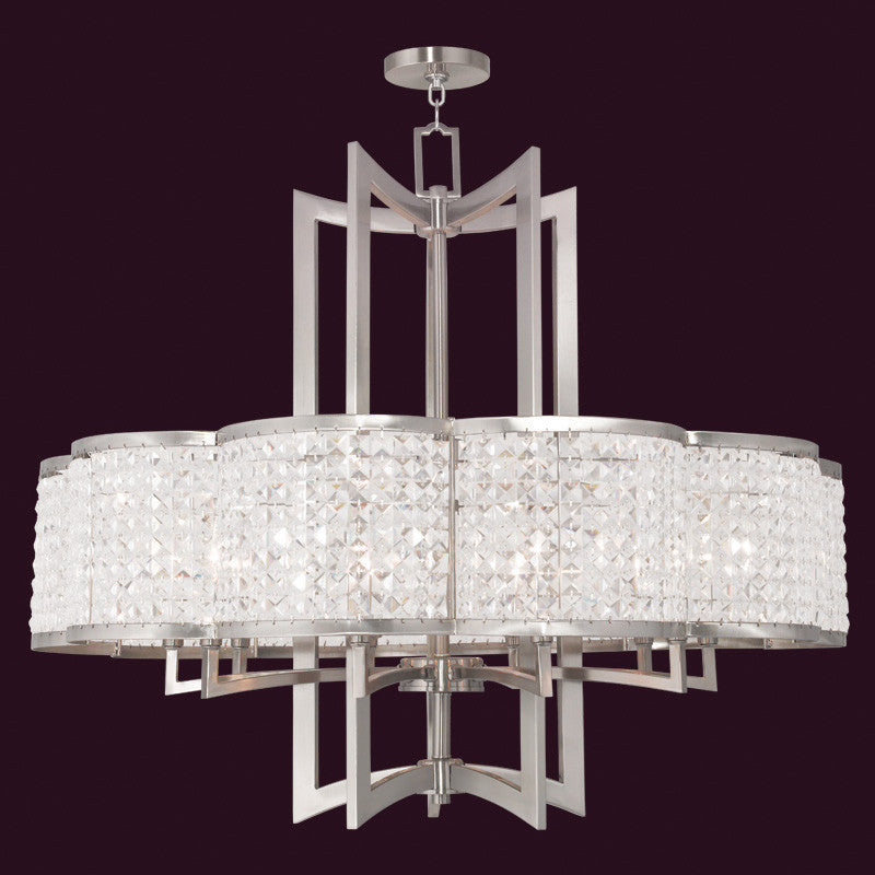 10 Light Clear Crystal Chandelier Lighting Laura of Pembroke - Laura of Pembroke Canton Ohio Boutique