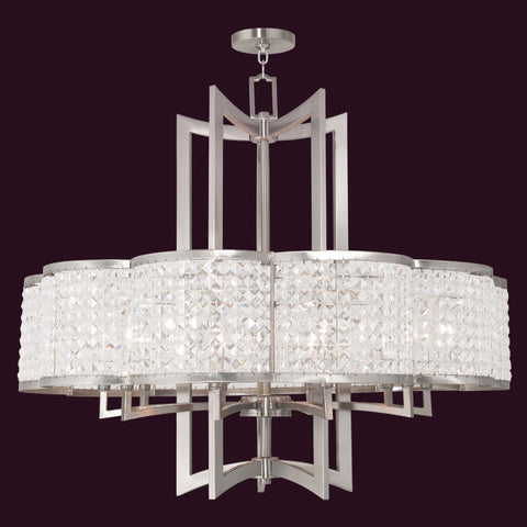 10 Light Clear Crystal Chandelier