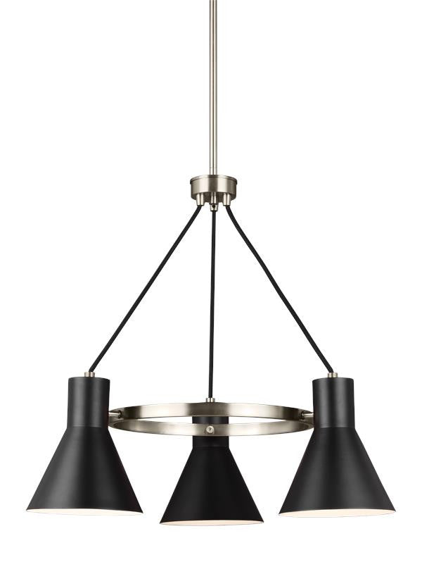 Mid-Century Retro 3 Light Chandelier