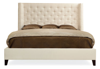 Wing Upholstered King Bed, Home Furnishings, Laura of Pembroke