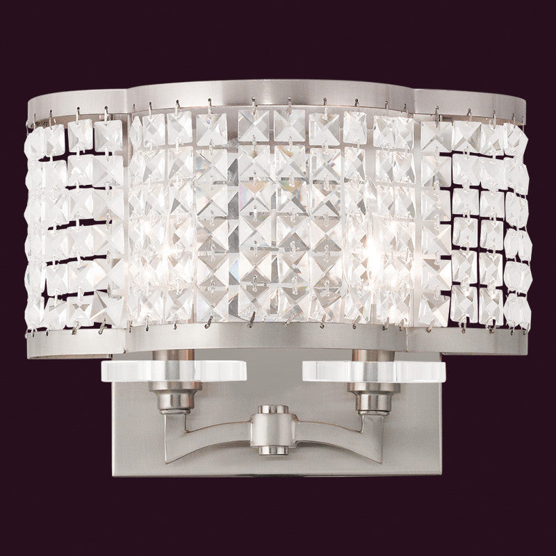 Clear Crystal Wall Sconce, Lighting, Laura of Pembroke