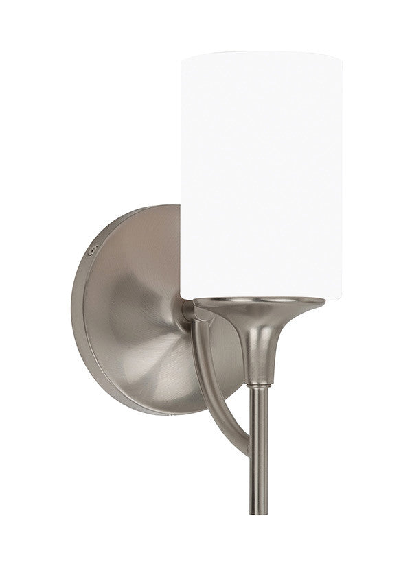 Brushed Nickel Modern Lines 1 Light Sconce