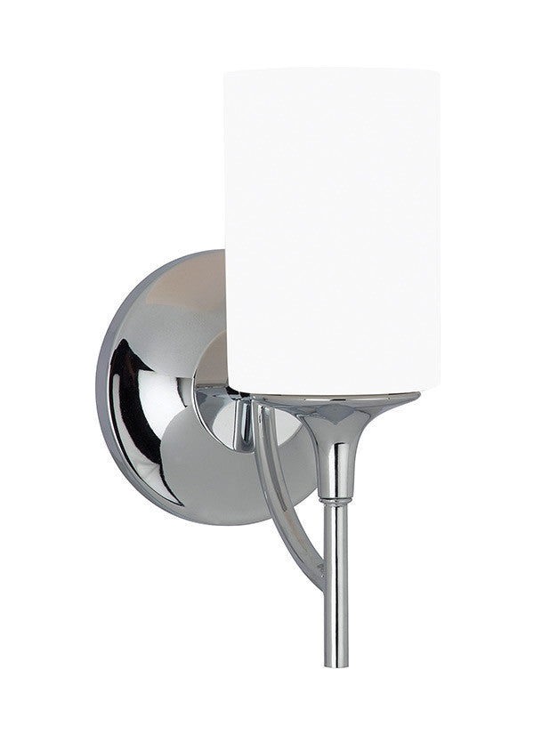 Chrome Modern Lines 1 Light Sconce