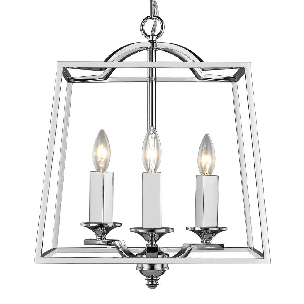 Lighting by design canton ohio - Polished Chrome Open Cage 3 Light Pendant