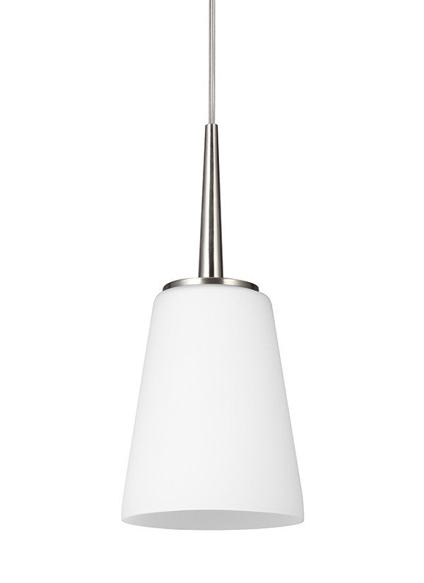 Etched White Glass Mini Pendant, Lighting, Laura of Pembroke