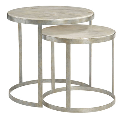 Round Marble Top Nesting Table