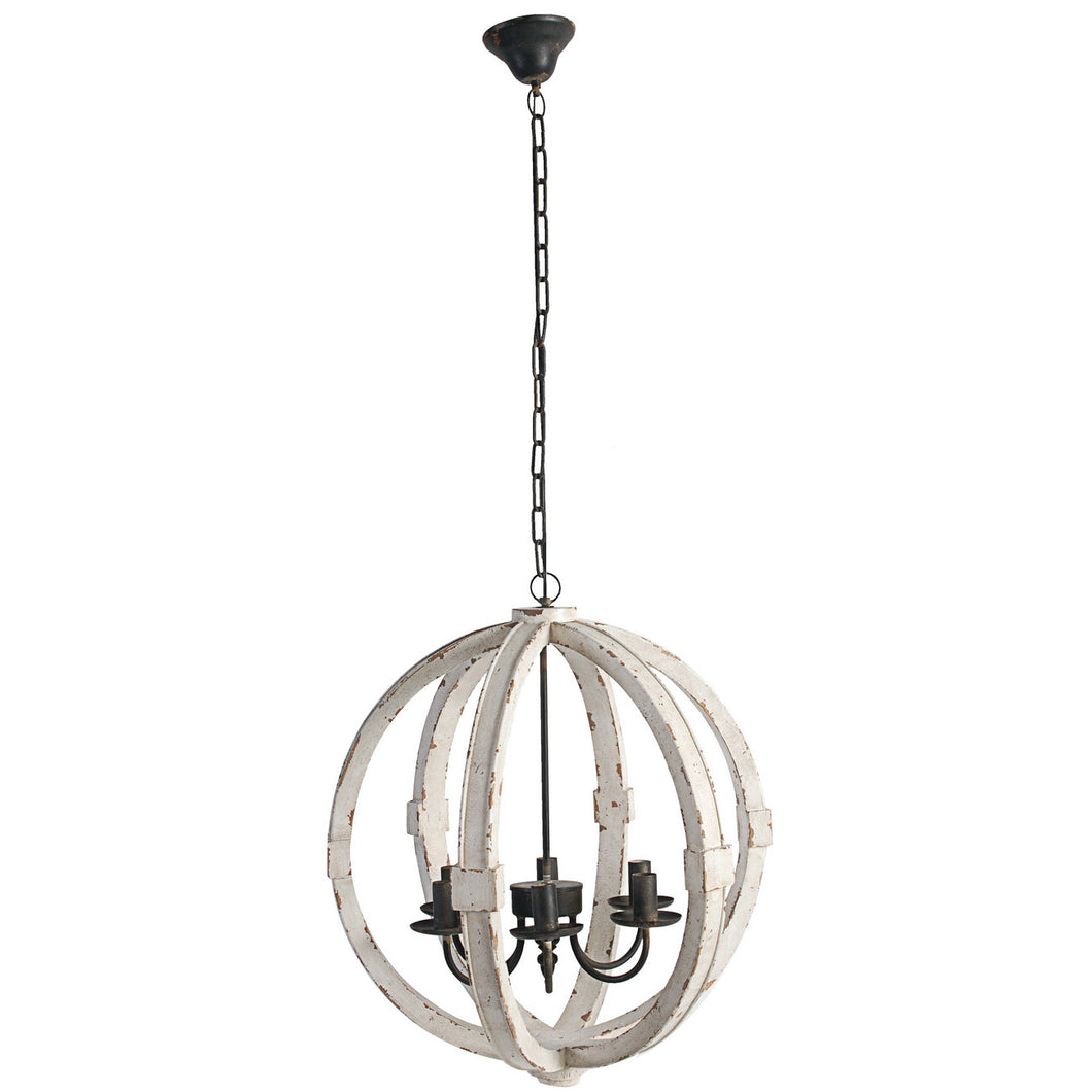 Wooden Orb Chandelier, Lighting, Laura of Pembroke