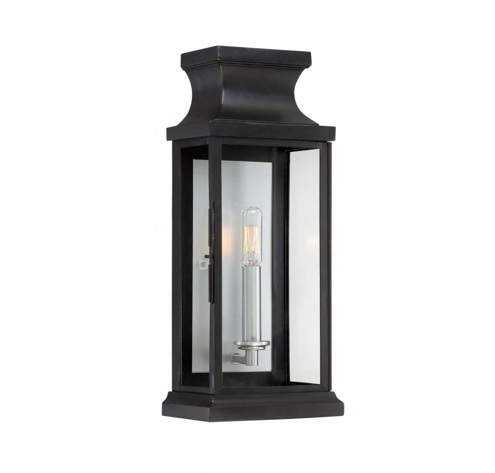 Small Black Traditional Metal Outdoor Wall  Lantern, Lighting, Laura of Pembroke