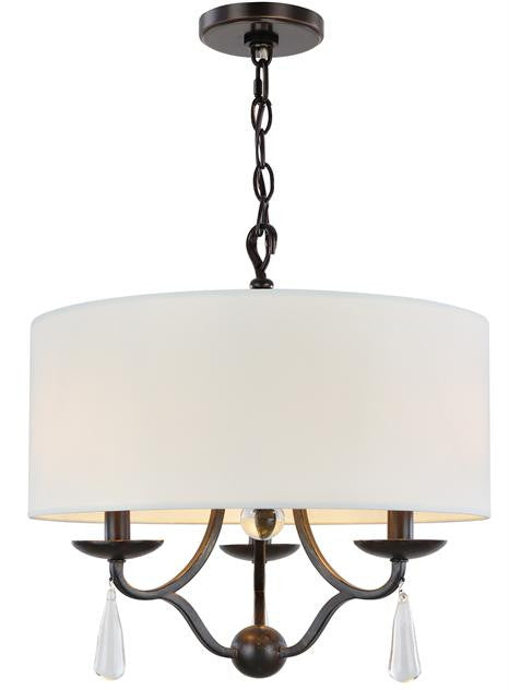 English Bronze Wrought Iron 3 Light Mini Chandelier, Lighting, Laura of Pembroke