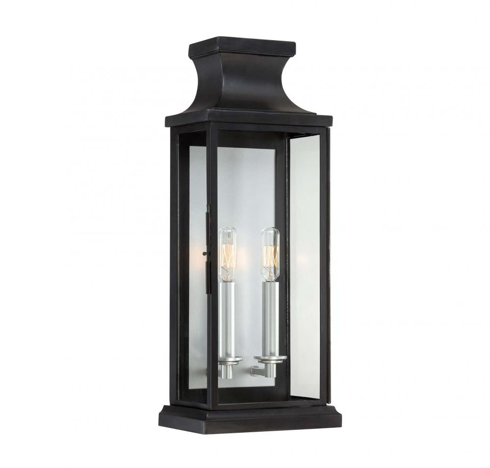 Large Black Traditional Metal Outdoor Wall  Lantern