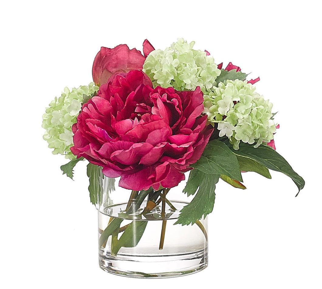 Peony with Glass Cylinder