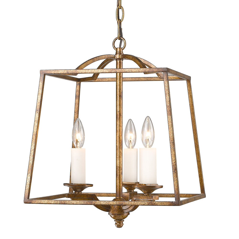 Grecian Gold 3 Light Pendant, Lighting, Laura of Pembroke