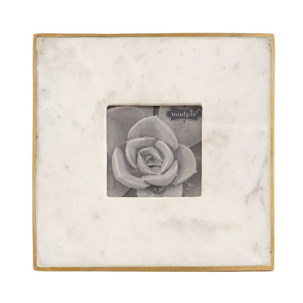 3x3 Marble and Gold Frame