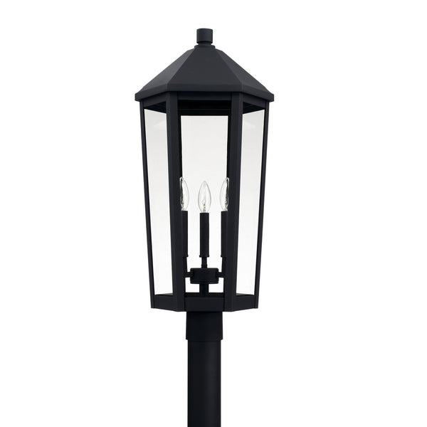 Ellsworth Black 3 Light Outdoor Post Lantern