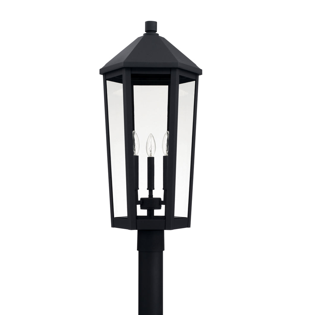 Ellsworth Black 3 Light Outdoor Post Lantern, Lighting, Laura of Pembroke