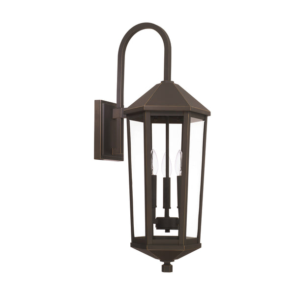 Ellsworth Oil Rubbed Bronze 3 Light Outdoor Wall Lantern