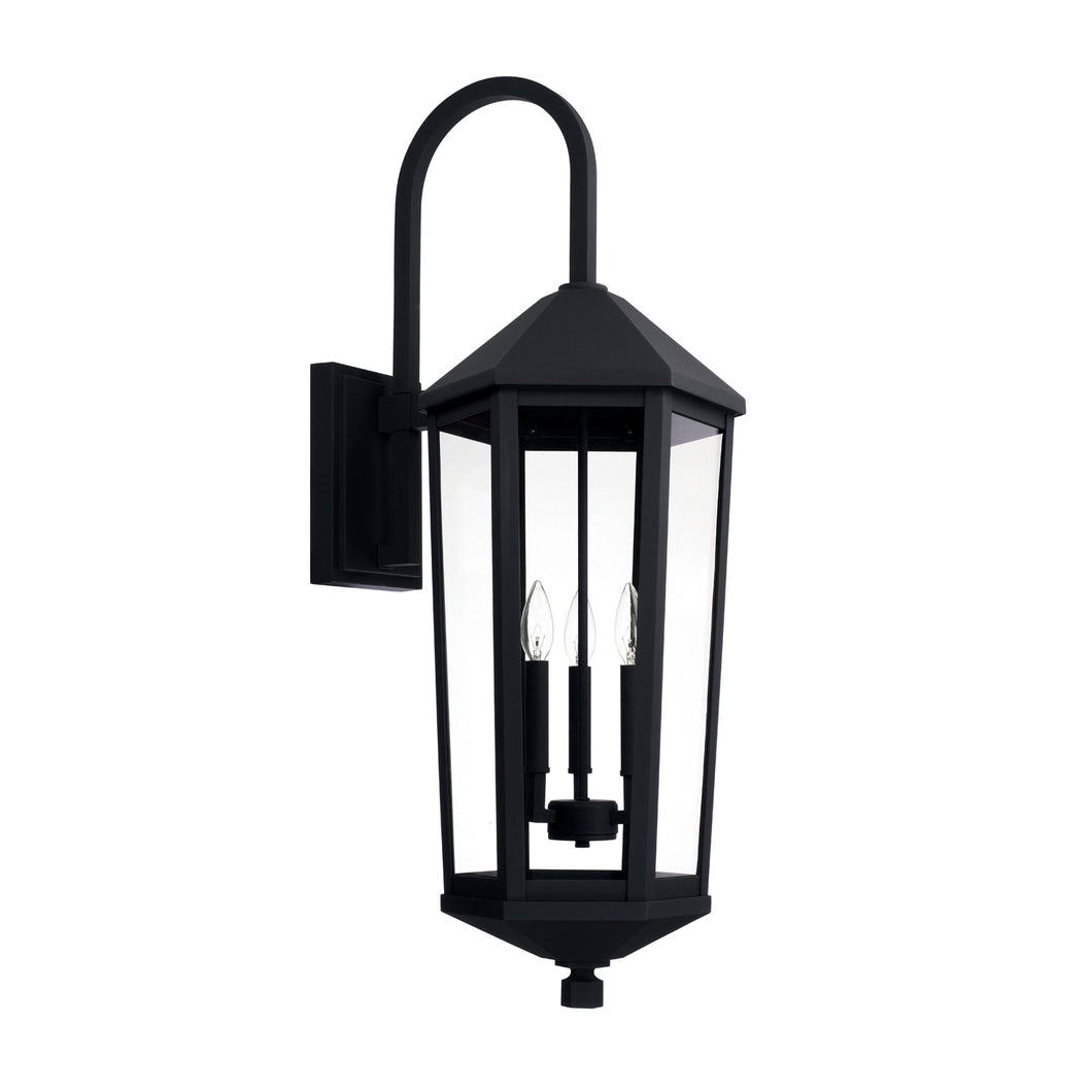 Ellsworth Black 3 Light Outdoor Wall Lantern, Lighting, Laura of Pembroke