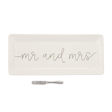 Mr And Mrs Hostess Tray Set, Gifts, Mud Pie, Laura of Pembroke