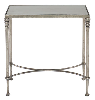 Mirrored Glass Top End Table