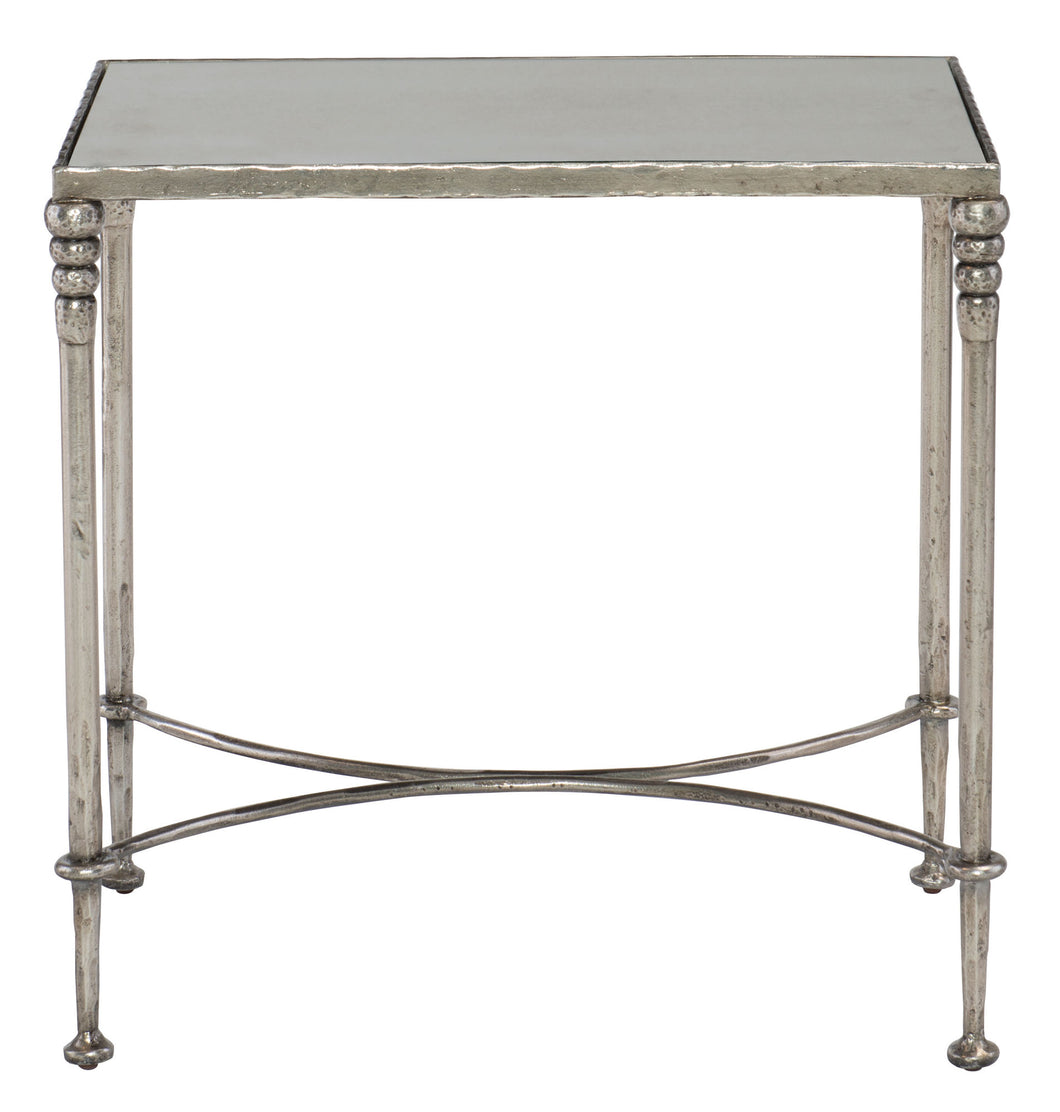 Mirrored Glass Top End Table, Home Furnishings, Laura of Pembroke