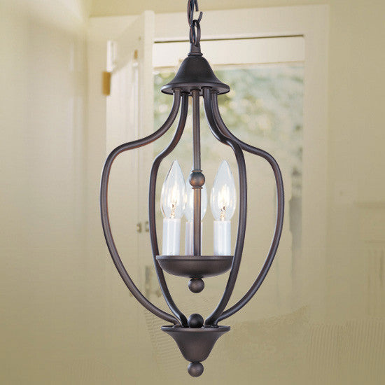 Black Iron 3 Light Lantern