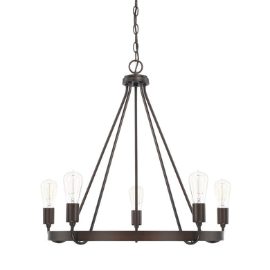 Tanner Bronze 5 Light Chandelier