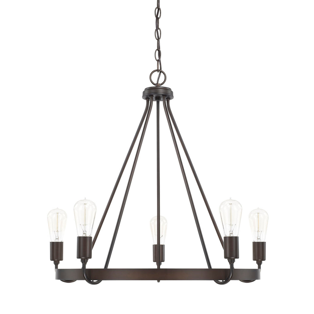 Tanner Bronze 5 Light Chandelier, Lighting, Laura of Pembroke