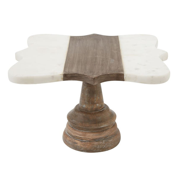 Quatrefoil Marble & Wood Pedestal, Gifts, Mud Pie, Laura of Pembroke