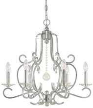 6 Light Silver Chandelier, Lighting, Laura of Pembroke