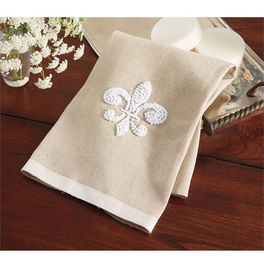 Fleur De Lis Tea Towel, Gifts, Mud Pie, Laura of Pembroke