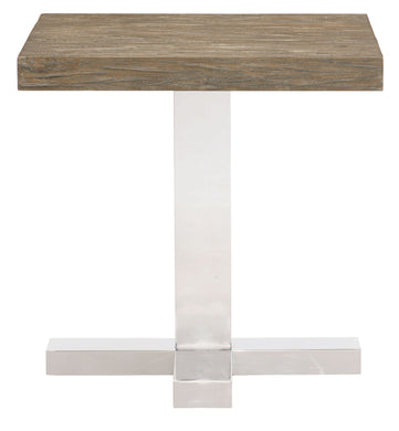 Wood Top Square End Table, Home Furnishings, Laura of Pembroke