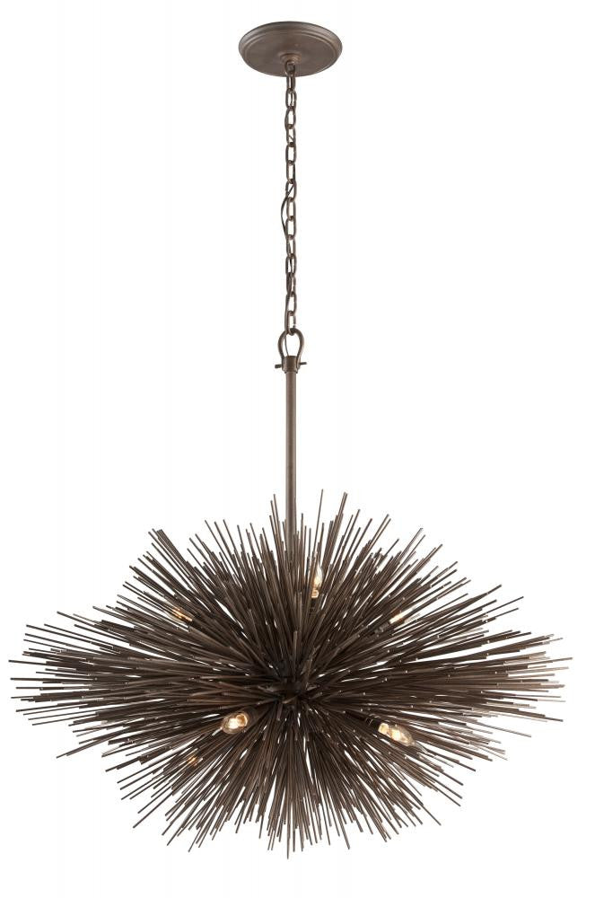 Contemporary Bronze 8 Light Pendant