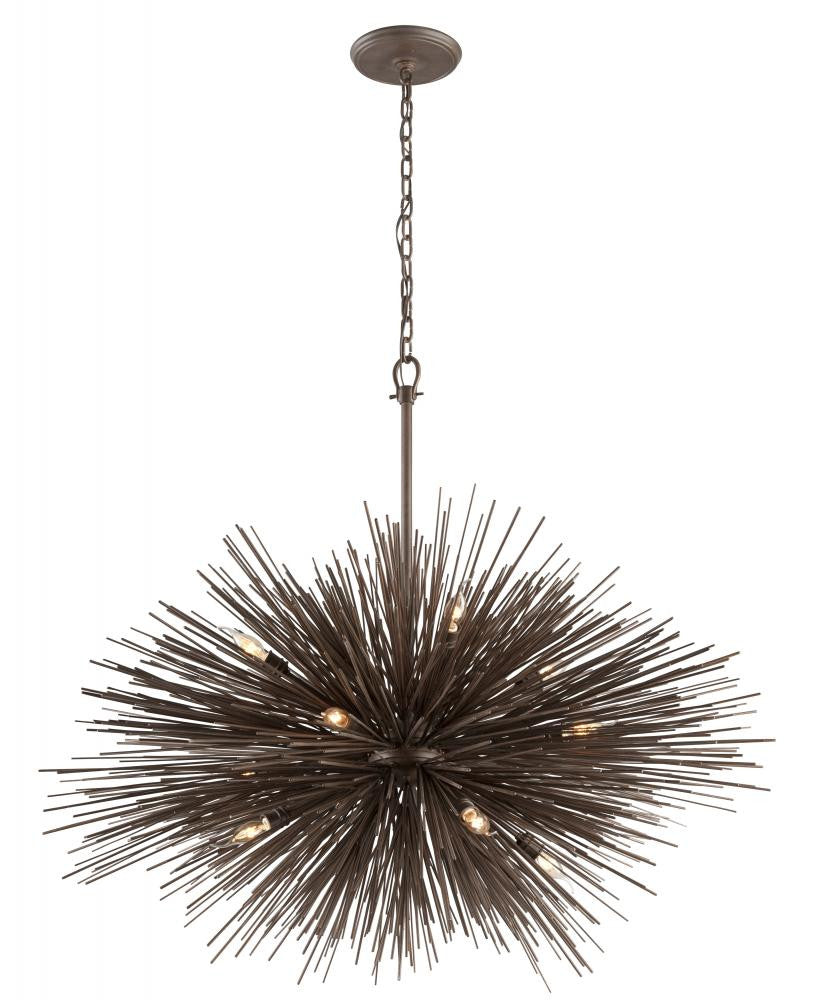 Contemporary Bronze 12 Light Pendant, Lighting, Laura of Pembroke
