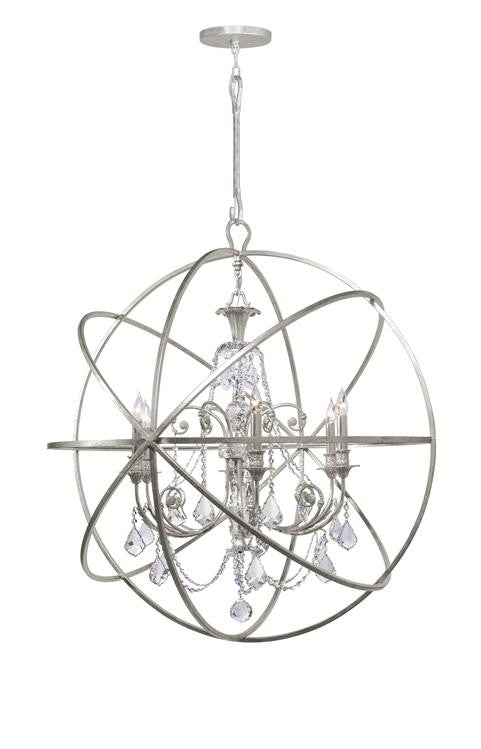 Swarovski Spectra Crystal Silver Sphere Chandelier, Lighting, Laura of Pembroke