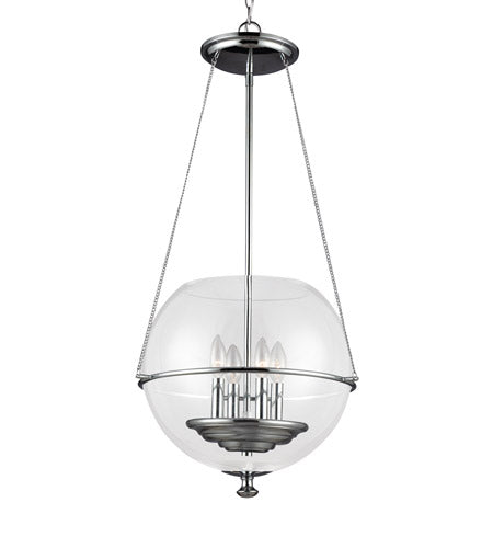 4 Light 18 inch Chrome Pendant Ceiling Light