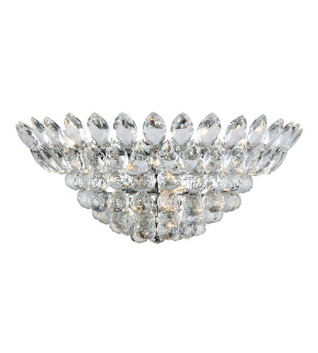 4 Light 20 inch Chrome Wall Sconce