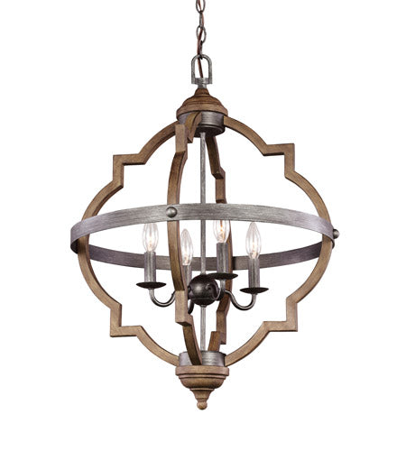 4 Light 21 inch Stardust Foyer Light Ceiling Light