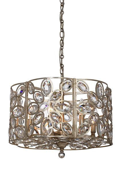 Distressed Twilight 6 Light Chandelier, Lighting, Laura of Pembroke