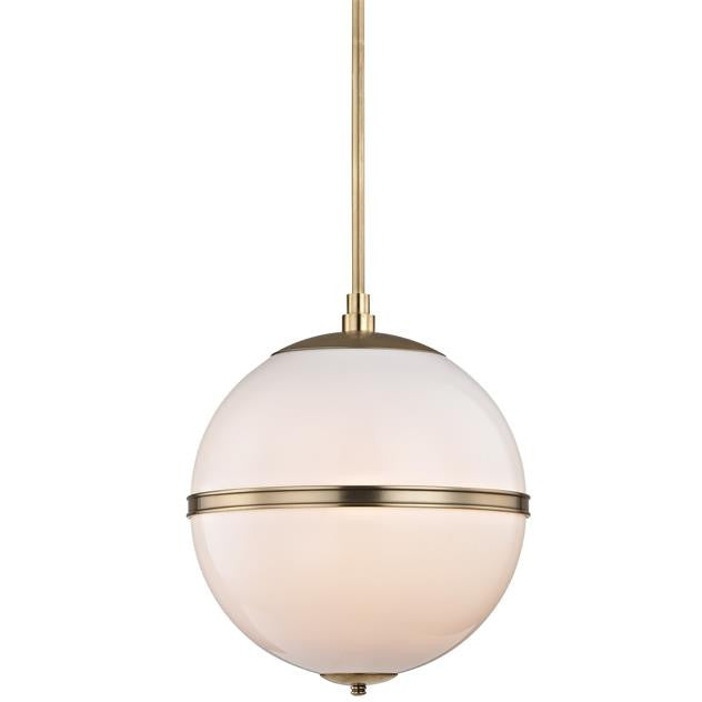 Glass and Steel Aged Brass 3 Light Mini Chandelier